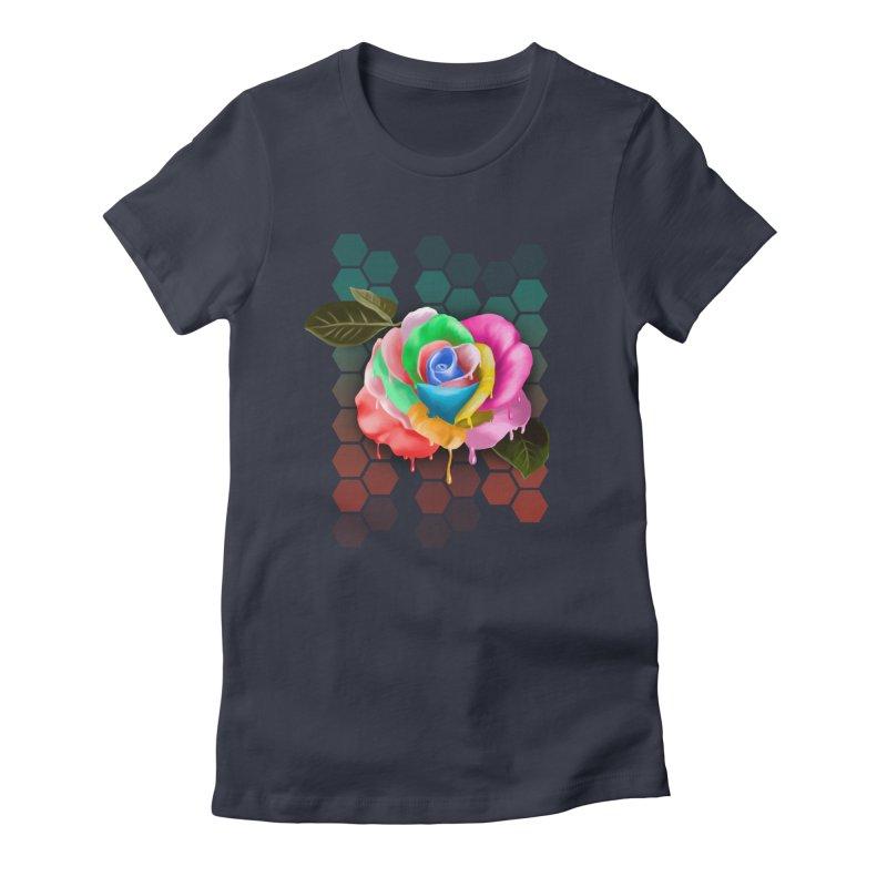 Rose_colors Women's Fitted T-Shirt by gabifaveri's Artist Shop