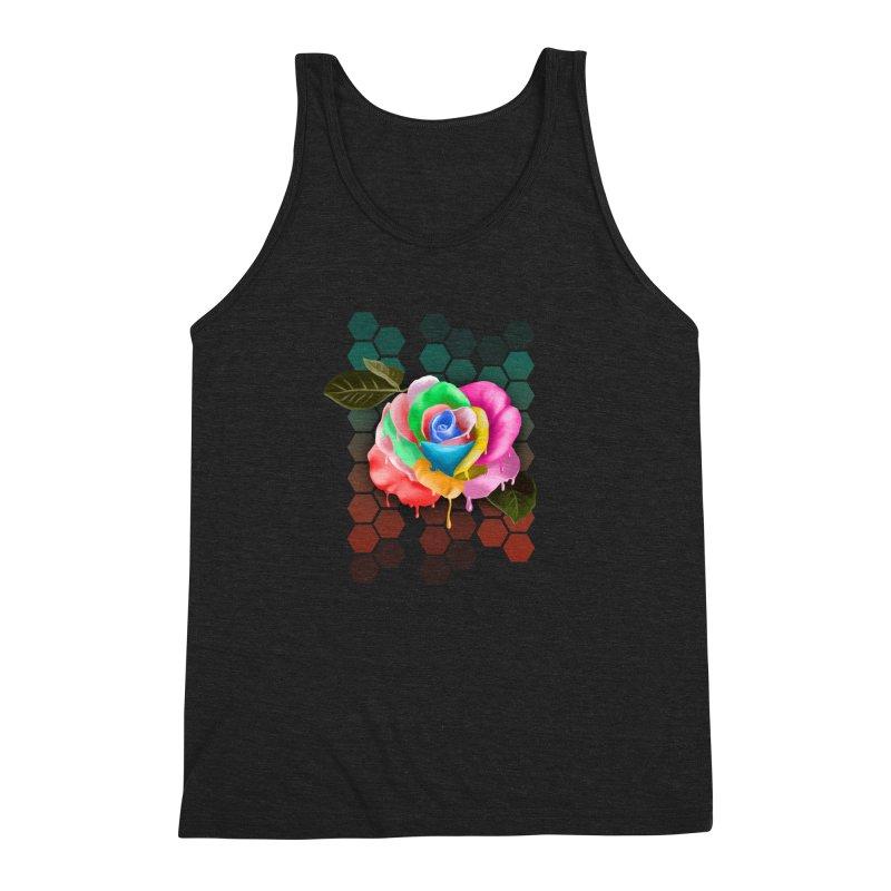 Rose_colors Men's Triblend Tank by gabifaveri's Artist Shop