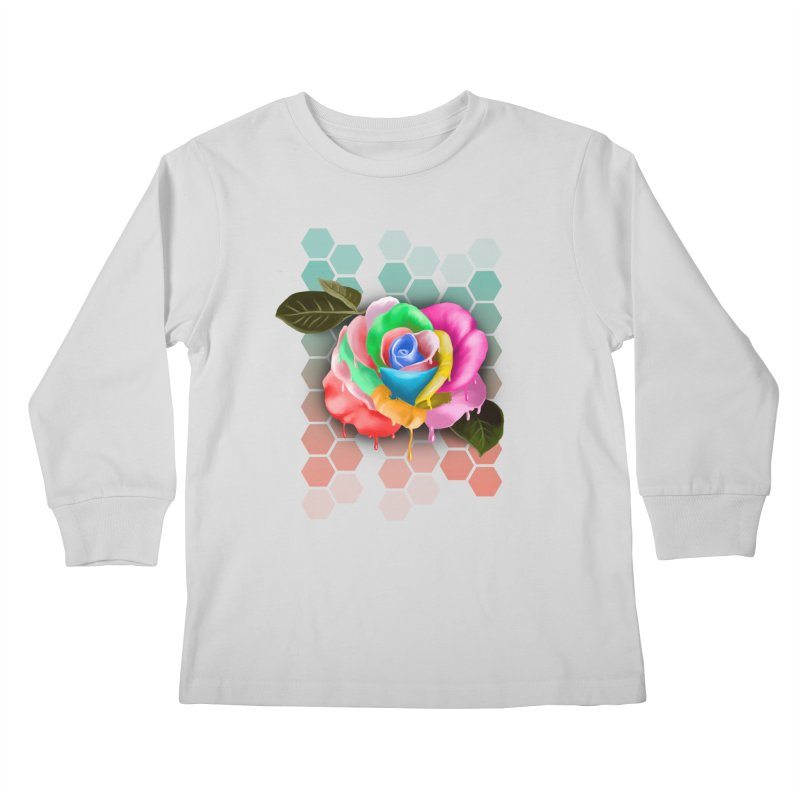 Rose_colors Kids Longsleeve T-Shirt by gabifaveri's Artist Shop