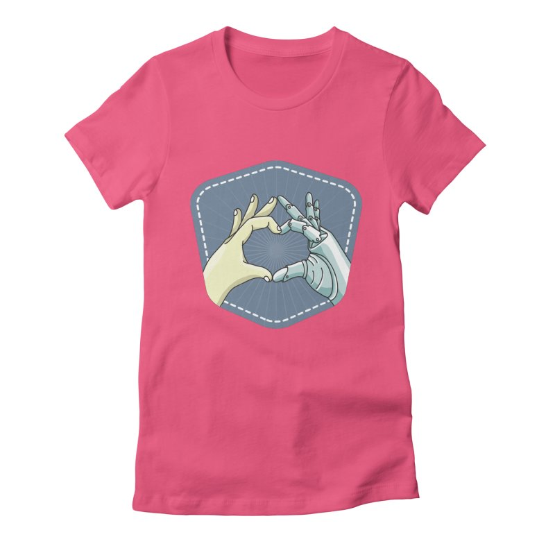 prostheses_hand Women's Fitted T-Shirt by gabifaveri's Artist Shop