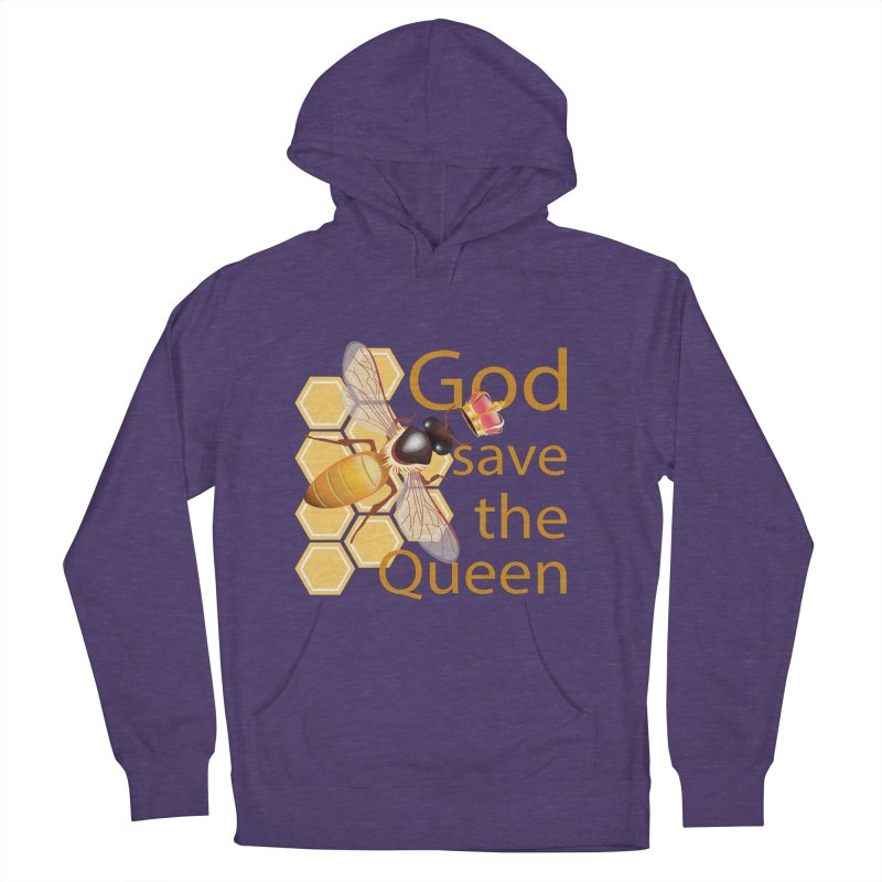 God Save the Queen Women's French Terry Pullover Hoody by gabifaveri's Artist Shop