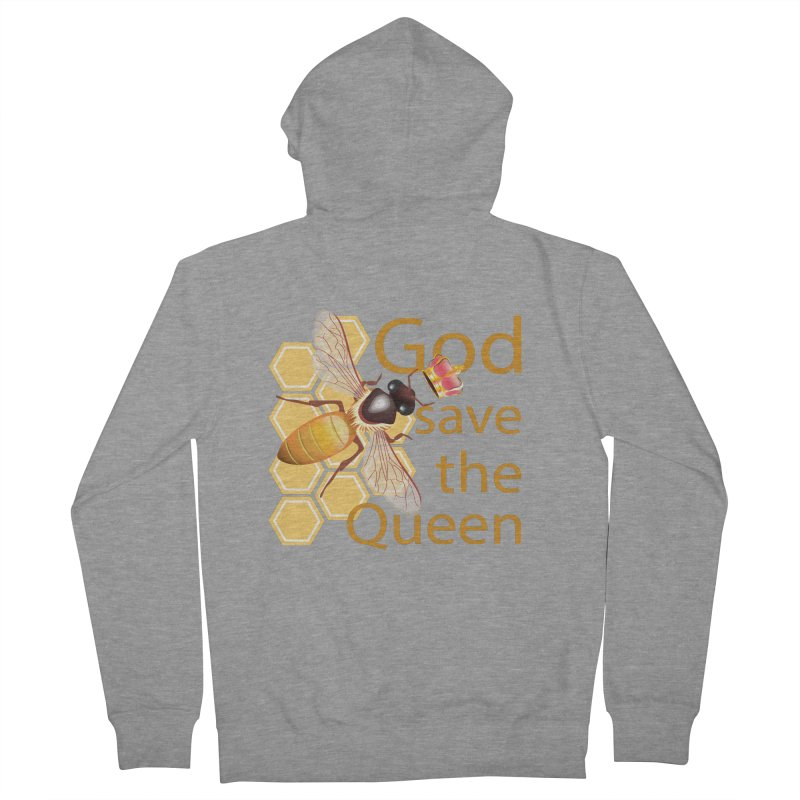 God Save the Queen Women's French Terry Zip-Up Hoody by gabifaveri's Artist Shop