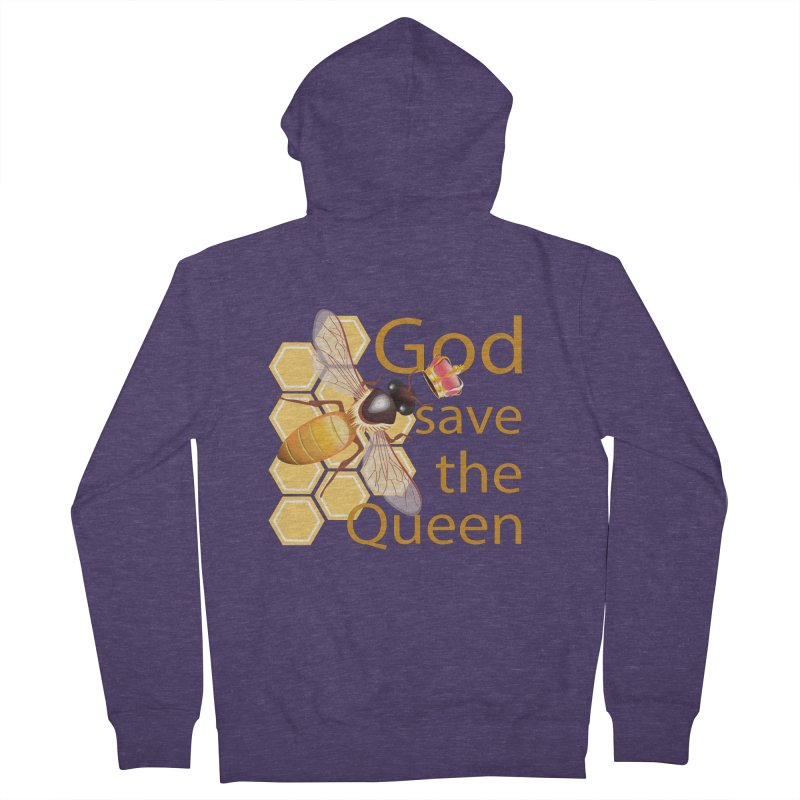 God Save the Queen Men's French Terry Zip-Up Hoody by gabifaveri's Artist Shop