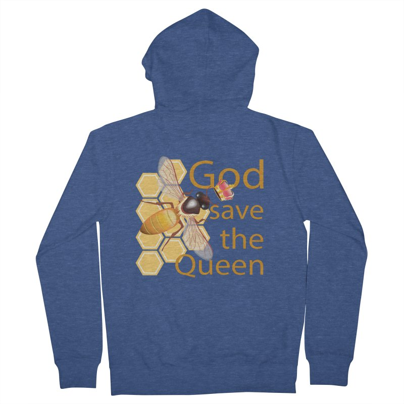 God Save the Queen Men's Zip-Up Hoody by gabifaveri's Artist Shop