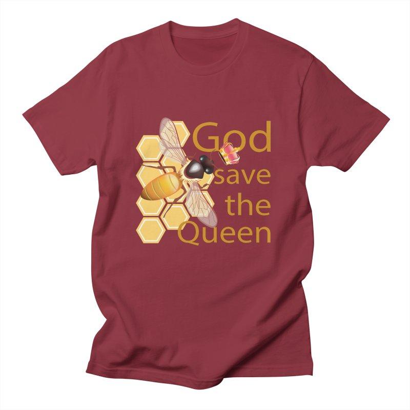 God Save the Queen Men's Regular T-Shirt by gabifaveri's Artist Shop