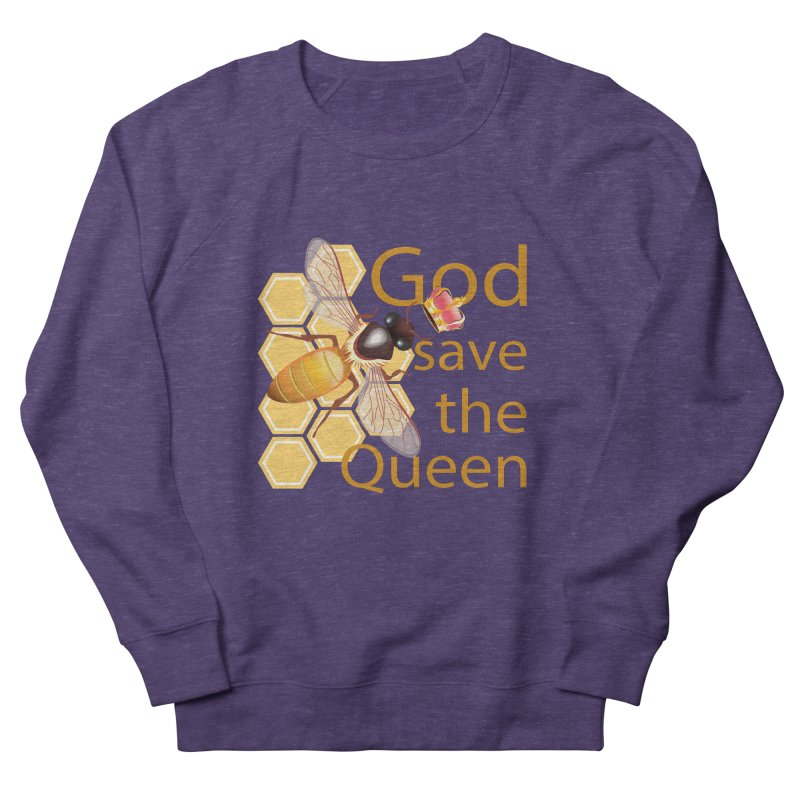 God Save the Queen Women's French Terry Sweatshirt by gabifaveri's Artist Shop