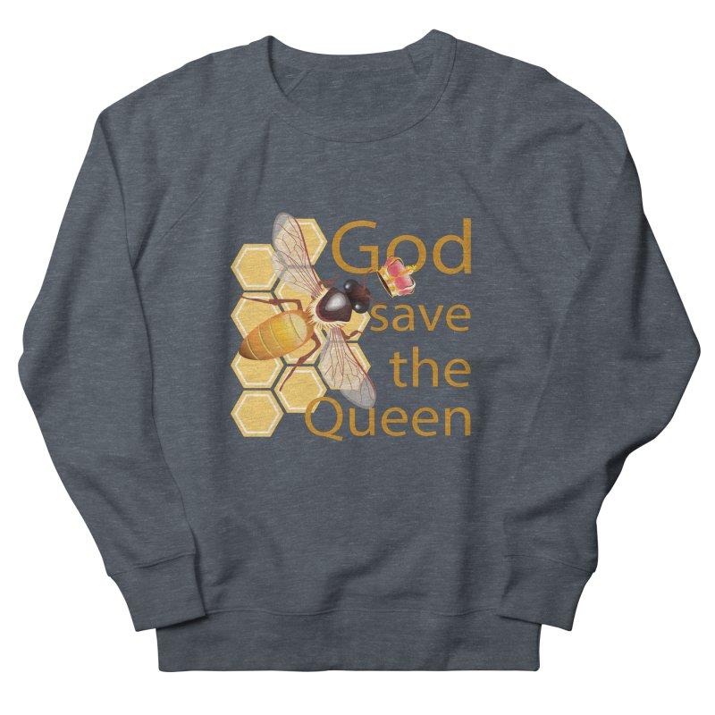 God Save the Queen Men's French Terry Sweatshirt by gabifaveri's Artist Shop