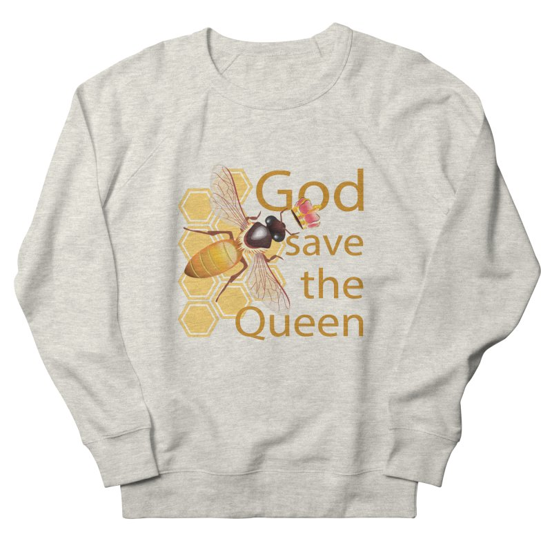 God Save the Queen Men's French Terry Sweatshirt by gabifaveri's Artist Shop