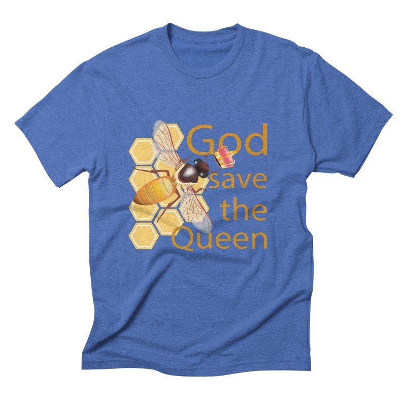 God Save the Queen Men's Triblend T-Shirt by gabifaveri's Artist Shop