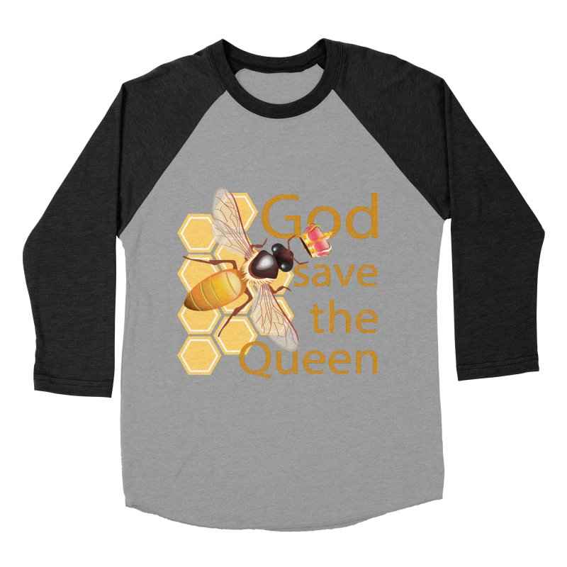 God Save the Queen Men's Baseball Triblend Longsleeve T-Shirt by gabifaveri's Artist Shop