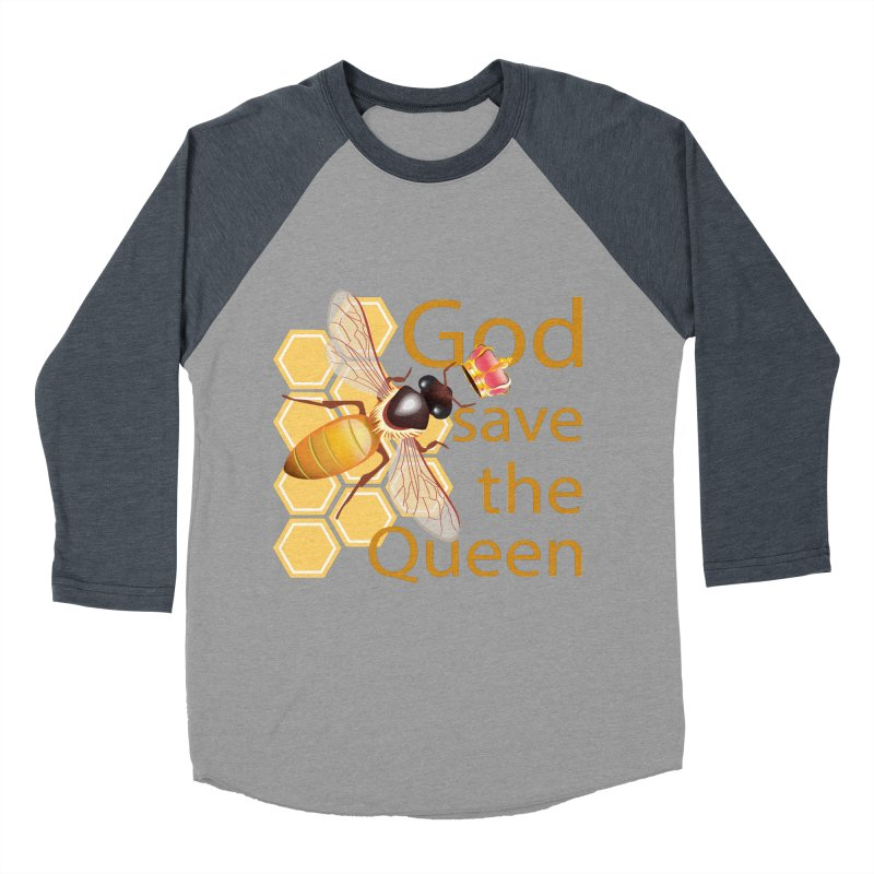 God Save the Queen Men's Baseball Triblend Longsleeve T-Shirt by gabifaveri's Artist Shop
