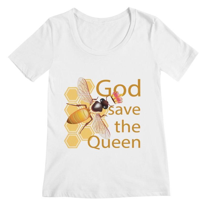 God Save the Queen Women's Regular Scoop Neck by gabifaveri's Artist Shop