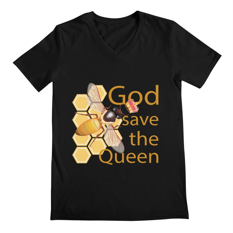 God Save the Queen Men's Regular V-Neck by gabifaveri's Artist Shop