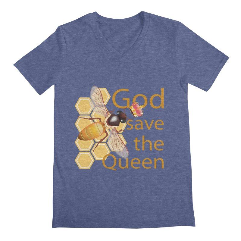 God Save the Queen Men's V-Neck by gabifaveri's Artist Shop