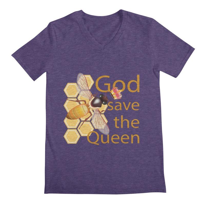 God Save the Queen Men's Regular V-Neck by gabifaveri's Artist Shop