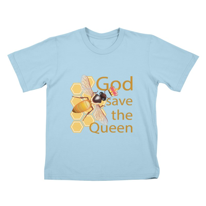 God Save the Queen Kids T-Shirt by gabifaveri's Artist Shop