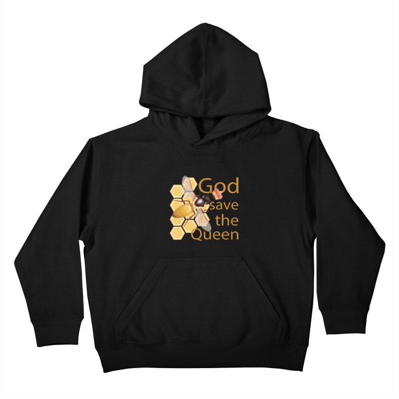 God Save the Queen Kids Pullover Hoody by gabifaveri's Artist Shop