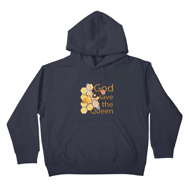 God Save the Queen Kids Pullover Hoody by gabifaveri's Artist Shop