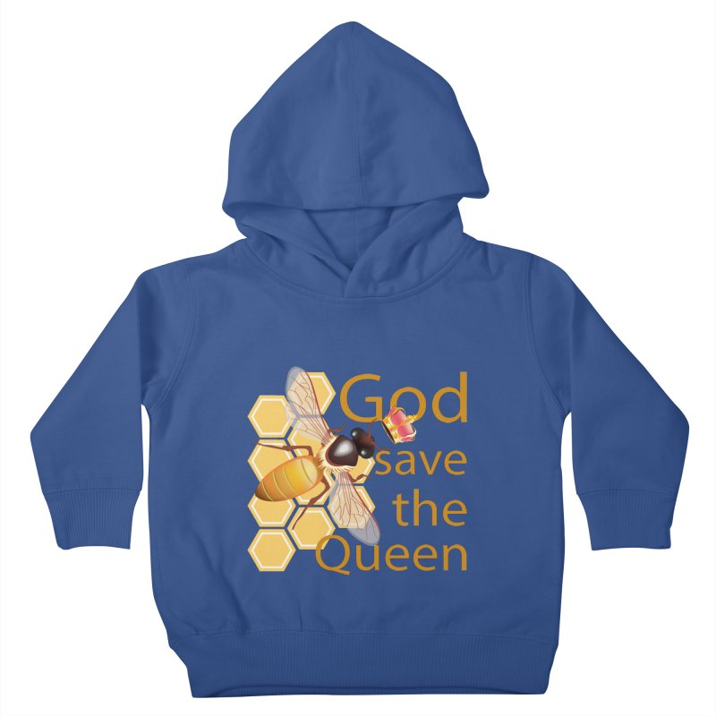 God Save the Queen Kids Toddler Pullover Hoody by gabifaveri's Artist Shop