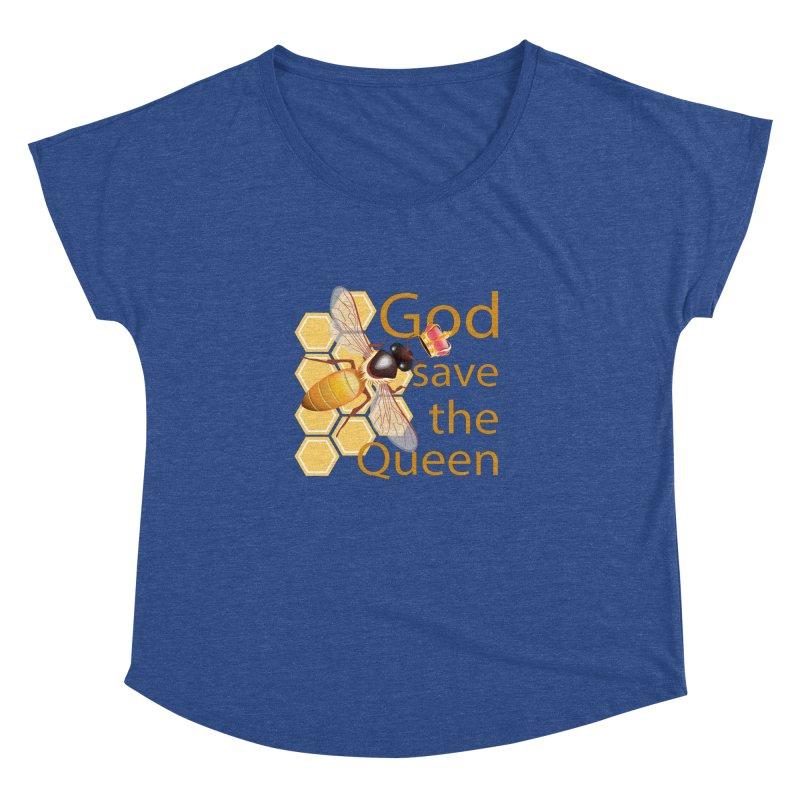 God Save the Queen Women's Dolman Scoop Neck by gabifaveri's Artist Shop
