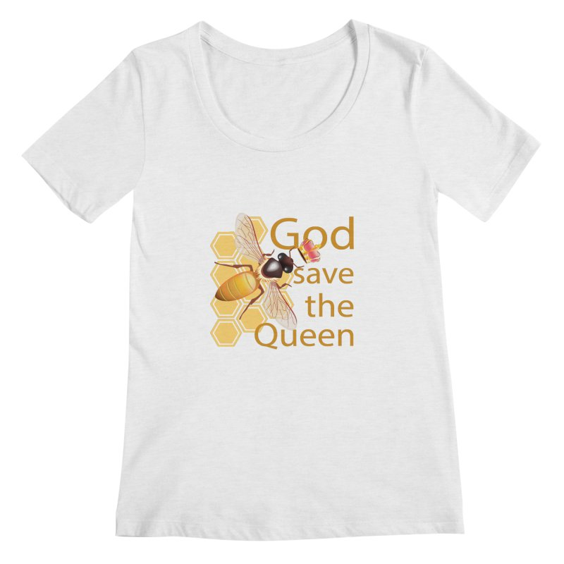 God Save the Queen Women's Scoopneck by gabifaveri's Artist Shop