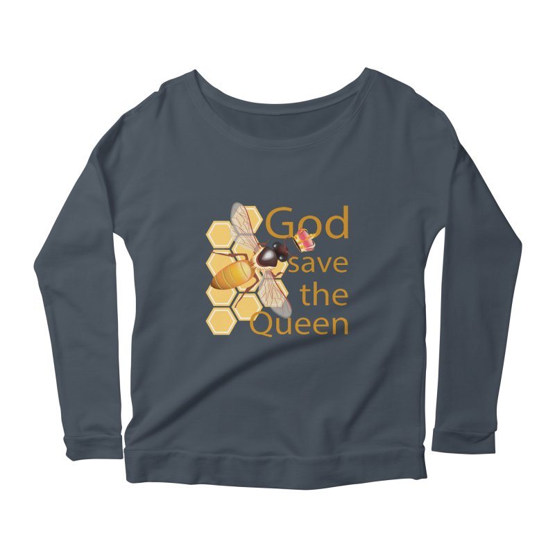 God Save the Queen Women's Longsleeve Scoopneck  by gabifaveri's Artist Shop