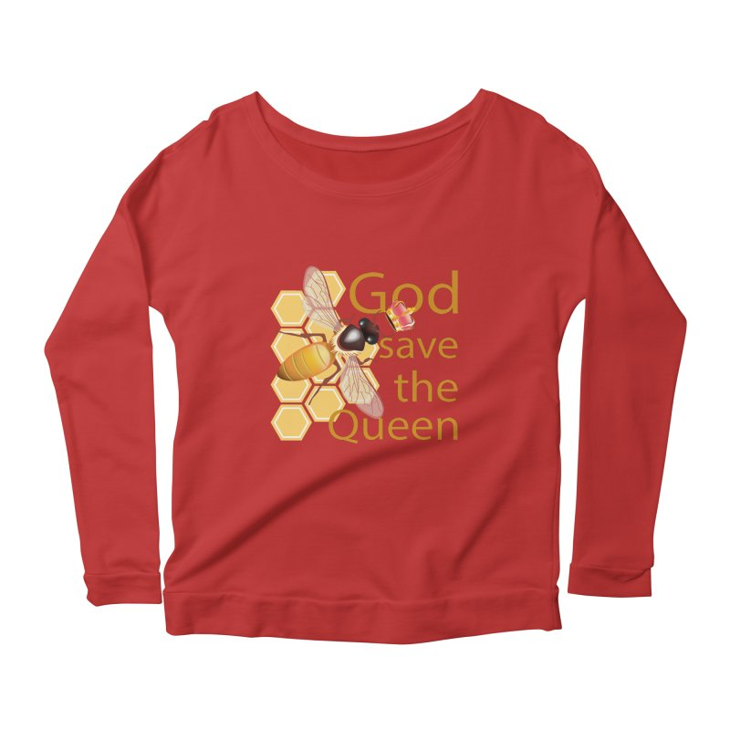 God Save the Queen Women's Scoop Neck Longsleeve T-Shirt by gabifaveri's Artist Shop