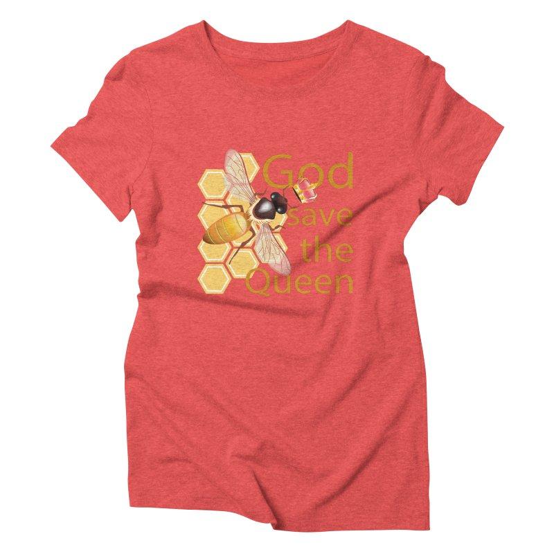 God Save the Queen Women's Triblend T-Shirt by gabifaveri's Artist Shop