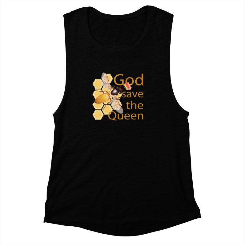 God Save the Queen Women's Muscle Tank by gabifaveri's Artist Shop