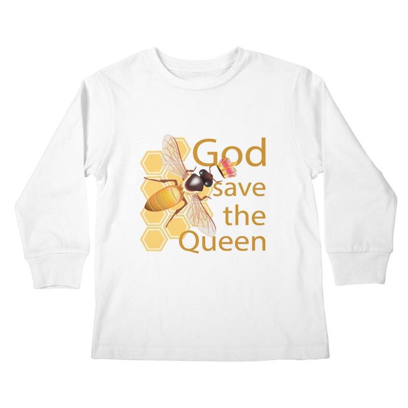 God Save the Queen Kids Longsleeve T-Shirt by gabifaveri's Artist Shop