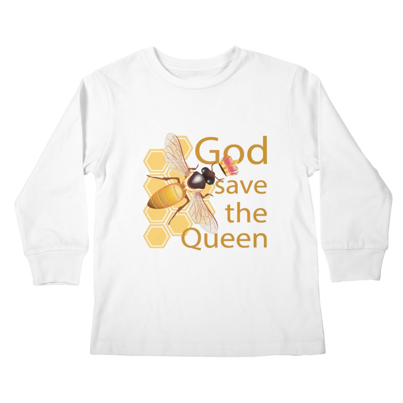 God Save the Queen Kids Longsleeve T-Shirt by gabifaveri's Artist Shop