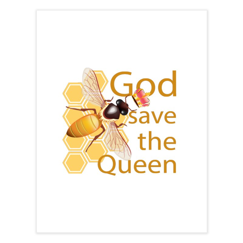 God Save the Queen Home Fine Art Print by gabifaveri's Artist Shop