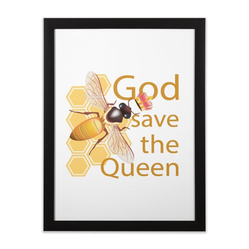 God Save the Queen Home Framed Fine Art Print by gabifaveri's Artist Shop
