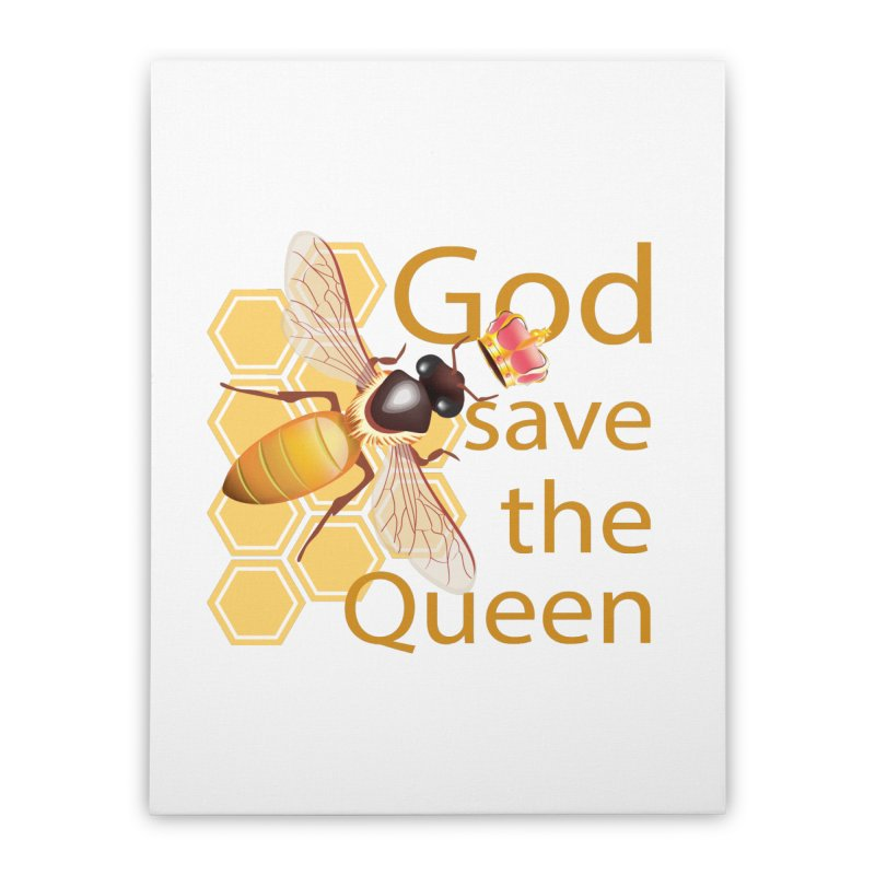 God Save the Queen Home Stretched Canvas by gabifaveri's Artist Shop
