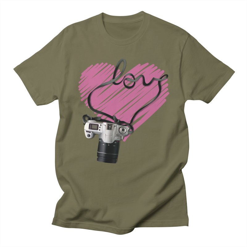 camera Love Men's Regular T-Shirt by gabifaveri's Artist Shop