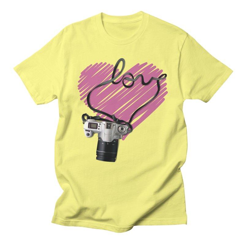 camera Love Men's Regular T-Shirt by gabifaveri's Artist Shop