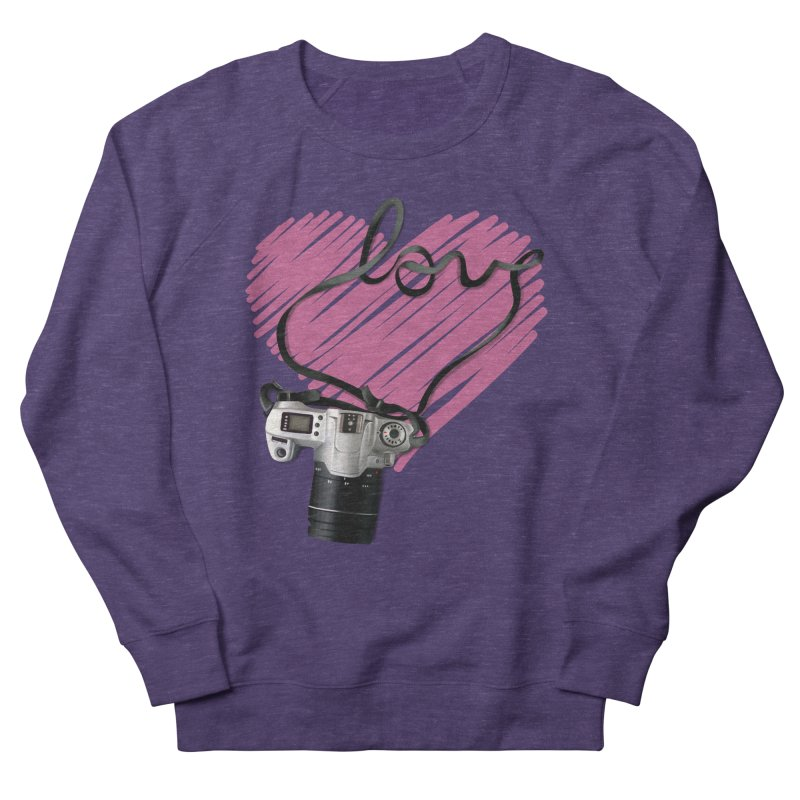 camera Love Men's French Terry Sweatshirt by gabifaveri's Artist Shop