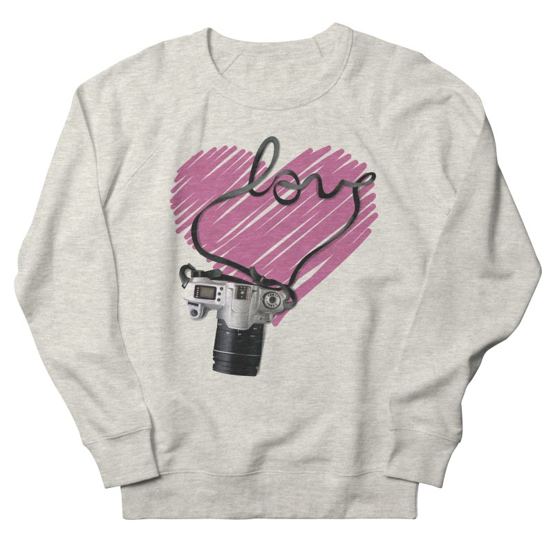 camera Love Men's French Terry Sweatshirt by gabifaveri's Artist Shop