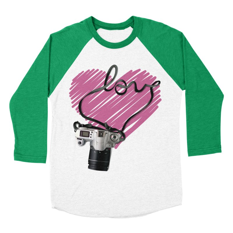 camera Love Women's Baseball Triblend T-Shirt by gabifaveri's Artist Shop