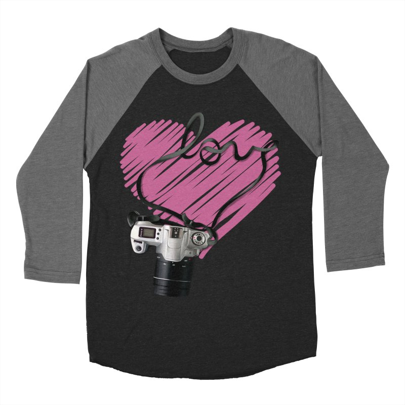 camera Love Men's Baseball Triblend Longsleeve T-Shirt by gabifaveri's Artist Shop