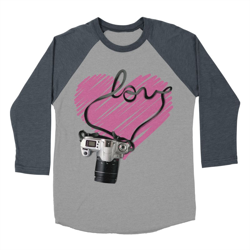 camera Love Men's Baseball Triblend T-Shirt by gabifaveri's Artist Shop