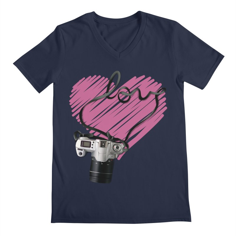 camera Love Men's Regular V-Neck by gabifaveri's Artist Shop