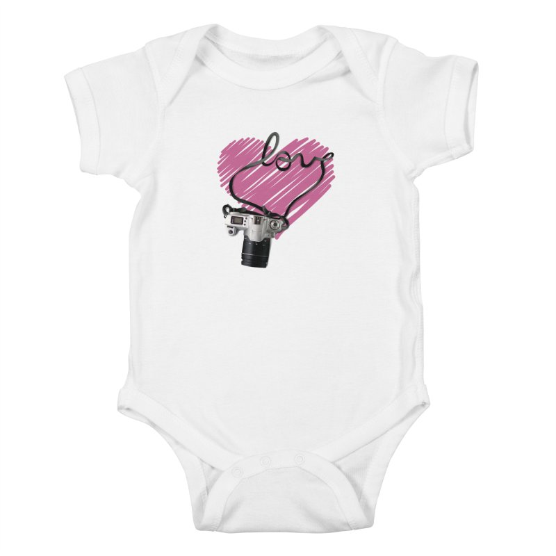 camera Love Kids Baby Bodysuit by gabifaveri's Artist Shop