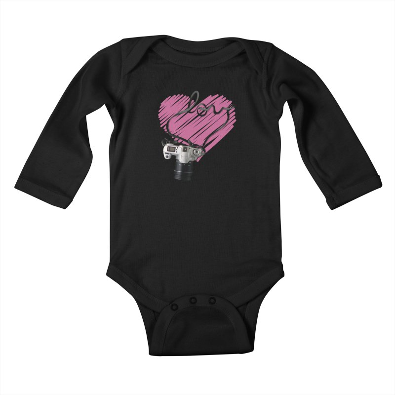 camera Love Kids Baby Longsleeve Bodysuit by gabifaveri's Artist Shop