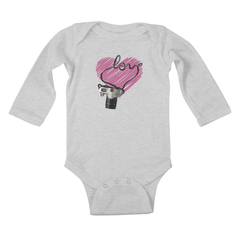 camera Love Kids Baby Longsleeve Bodysuit by gabifaveri's Artist Shop