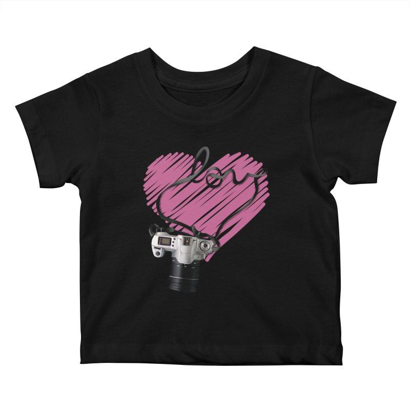 camera Love Kids Baby T-Shirt by gabifaveri's Artist Shop
