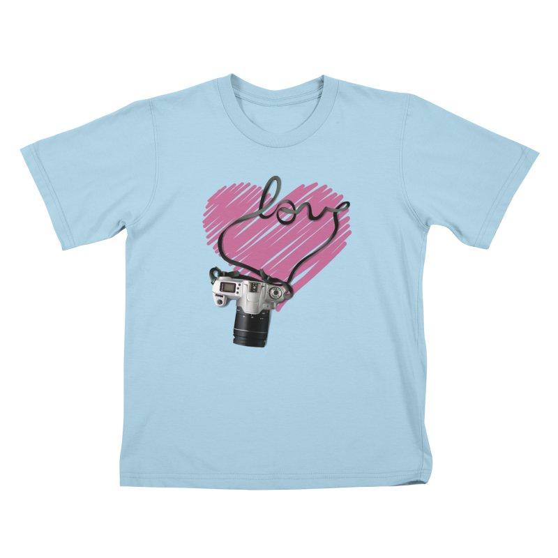 camera Love Kids T-Shirt by gabifaveri's Artist Shop