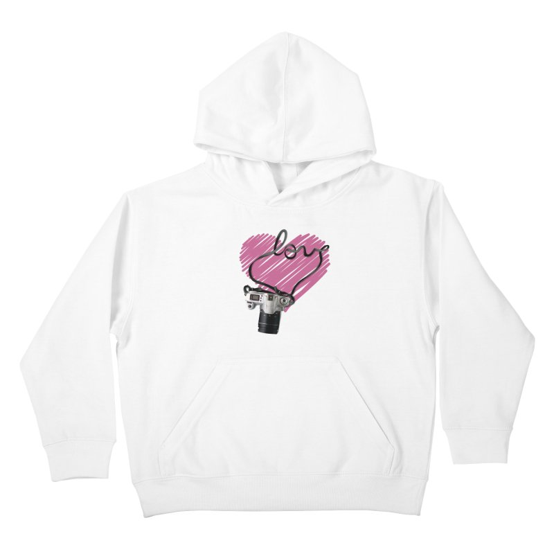 camera Love Kids Pullover Hoody by gabifaveri's Artist Shop
