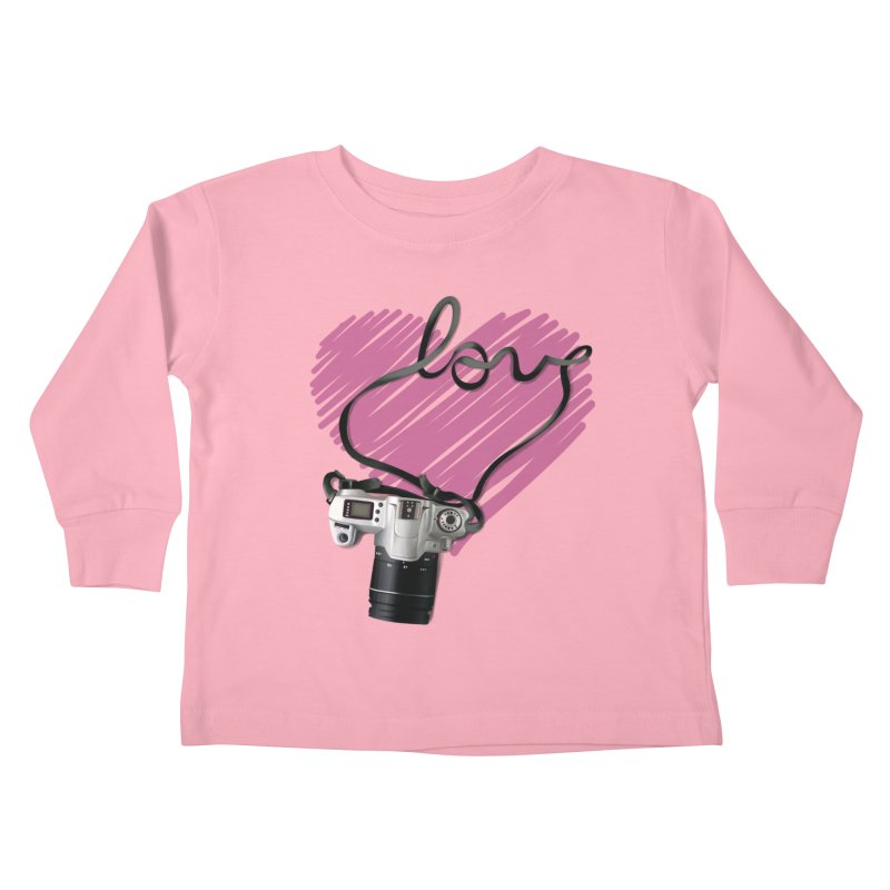 camera Love Kids Toddler Longsleeve T-Shirt by gabifaveri's Artist Shop
