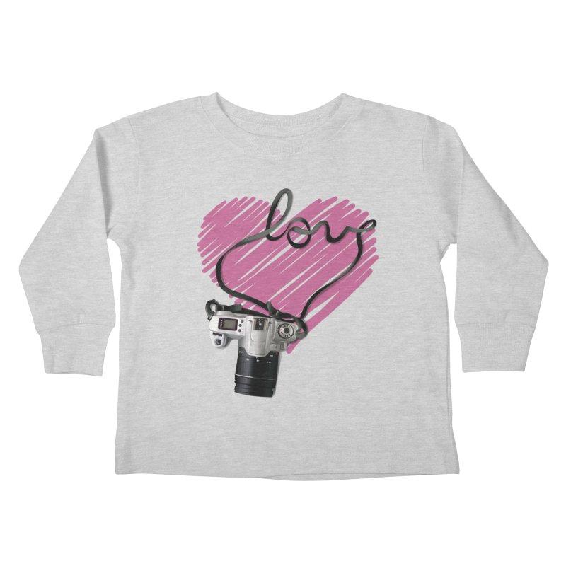 camera Love Kids Toddler Longsleeve T-Shirt by gabifaveri's Artist Shop